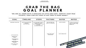 Grab the bag Goal planner 1